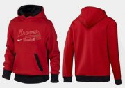 Wholesale Cheap Atlanta Braves Pullover Hoodie Red & Black