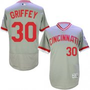 Wholesale Cheap Reds #30 Ken Griffey Grey Flexbase Authentic Collection Cooperstown Stitched MLB Jersey