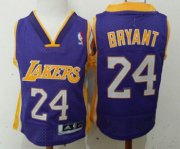 Cheap Los Angeles Lakers #24 Kobe Bryant Purple Toddlers Jersey
