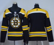 Wholesale Cheap Adidas Bruins Blank Black Home Authentic Women's Stitched NHL Jersey