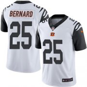 Wholesale Cheap Nike Bengals #25 Giovani Bernard White Men's Stitched NFL Limited Rush Jersey