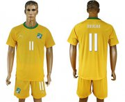 Wholesale Cheap Cote d'lvoire #11 Drogba Home Soccer Country Jersey