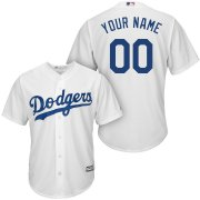 Wholesale Cheap Los Angeles Dodgers Majestic Cool Base Custom Jersey White
