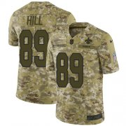 Wholesale Cheap Nike Saints #89 Josh Hill Camo Youth Stitched NFL Limited 2018 Salute to Service Jersey