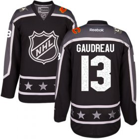 Wholesale Cheap Flames #13 Johnny Gaudreau Black 2017 All-Star Pacific Division Stitched Youth NHL Jersey