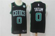 Wholesale Cheap Nike Boston Celtics 0 Jayson Tatum Black Stitched Swingman Jersey