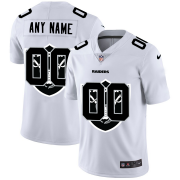 Wholesale Cheap Las Vegas Raiders Custom White Men's Nike Team Logo Dual Overlap Limited NFL Jersey