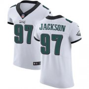 Wholesale Cheap Nike Eagles #97 Malik Jackson White Men's Stitched NFL Vapor Untouchable Elite Jersey
