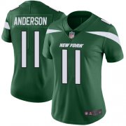 Wholesale Cheap Nike Jets #11 Robby Anderson Green Team Color Women's Stitched NFL Vapor Untouchable Limited Jersey