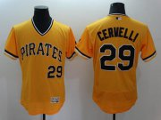 Wholesale Cheap Pirates #29 Francisco Cervelli Gold Flexbase Authentic Collection Cooperstown Stitched MLB Jersey