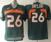 Wholesale Cheap Miami Hurricanes #26 Taylor Green Jersey