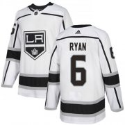 Wholesale Cheap Adidas Kings #6 Joakim Ryan White Road Authentic Stitched NHL Jersey