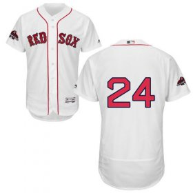 Wholesale Cheap Red Sox #24 David Price White Flexbase Authentic Collection 2018 World Series Champions Stitched MLB Jersey