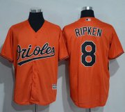 Wholesale Cheap Orioles #8 Cal Ripken Orange New Cool Base Stitched MLB Jersey