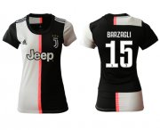 Wholesale Cheap Women's Juventus #15 Barzagli Home Soccer Club Jersey
