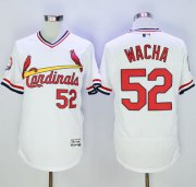Wholesale Cheap Cardinals #52 Michael Wacha White Flexbase Authentic Collection Cooperstown Stitched MLB Jersey