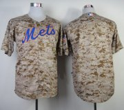 Wholesale Cheap Mets Blank Camo Alternate Cool Base Stitched MLB Jersey