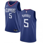 Wholesale Cheap Nike Clippers #5 Montrezl Harrell Blue NBA Swingman Icon Edition Jersey