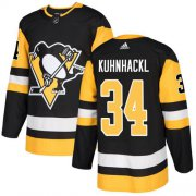Wholesale Cheap Adidas Penguins #34 Tom Kuhnhackl Black Home Authentic Stitched NHL Jersey