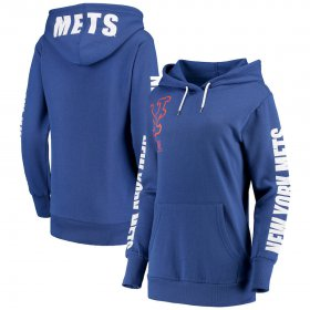 Wholesale Cheap New York Mets G-III 4Her by Carl Banks Women\'s 12th Inning Pullover Hoodie Royal