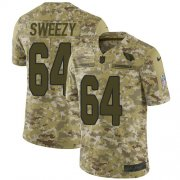 Wholesale Cheap Nike Cardinals #64 J.R. Sweezy Camo Men's Stitched NFL Limited 2018 Salute To Service Jersey