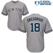 Wholesale Cheap Yankees #18 Didi Gregorius Grey New Cool Base Stitched MLB Jersey