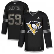 Wholesale Cheap Adidas Penguins #59 Jake Guentzel Black Authentic Classic Stitched NHL Jersey