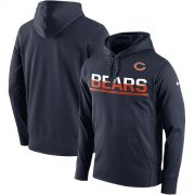 Wholesale Cheap Men's Chicago Bears Nike Navy Sideline Circuit Pullover Performance Hoodie