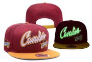 Wholesale Cheap NBA Cleveland Cavaliers Adjustable Snapback Hat YD160627121