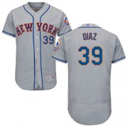 Wholesale Cheap Mets #39 Edwin Diaz Grey Flexbase Authentic Collection Stitched MLB Jersey