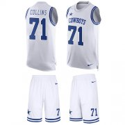 Wholesale Cheap Nike Cowboys #71 La'el Collins White Men's Stitched NFL Limited Tank Top Suit Jersey