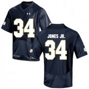 Wholesale Cheap Notre Dame Fighting Irish 34 Tony Jones Jr. Navy College Football Jersey