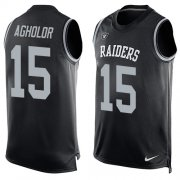 Wholesale Cheap Nike Raiders #15 Nelson Agholor Black Team Color Men's Stitched NFL Limited Tank Top Jersey