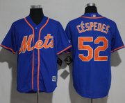 Wholesale Cheap Mets #52 Yoenis Cespedes Blue New Cool Base Alternate Home Stitched MLB Jersey
