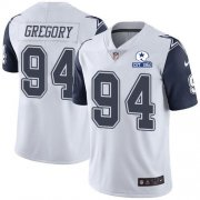 Wholesale Cheap Nike Cowboys #94 Randy Gregory White Men's Stitched With Established In 1960 Patch NFL Limited Rush Jersey