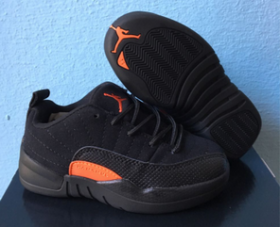 Wholesale Cheap Kids Air Jordan 12 Low Max Orange Black/Orange
