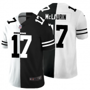 Cheap Washington Redskins #17 Terry McLaurin Men's Black V White Peace Split Nike Vapor Untouchable Limited NFL Jersey