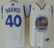 Wholesale Cheap Golden State Warriors #40 Harrison Barnes Revolution 30 Swingman White Jersey