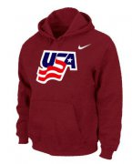 Wholesale Cheap Team USA Graphic Legend Performance Pullover NHL Hoodie Red