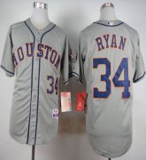 Wholesale Cheap Astros #34 Nolan Ryan Grey Cool Base Stitched MLB Jersey