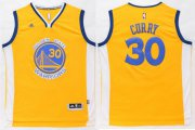 Wholesale Cheap Warriors #30 Stephen Curry Gold Stitched NBA Jersey