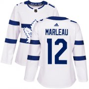 Wholesale Cheap Adidas Maple Leafs #12 Patrick Marleau White Authentic 2018 Stadium Series Women's Stitched NHL Jersey