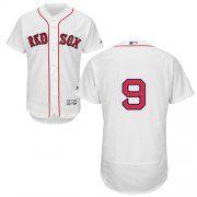 Wholesale Cheap Red Sox #9 Ted Williams White Flexbase Authentic Collection Stitched MLB Jersey