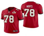 Wholesale Cheap Men's Tampa Bay Buccaneers #78 Tristan Wirfs Red 2021 Super Bowl LV Limited Stitched NFL Jersey
