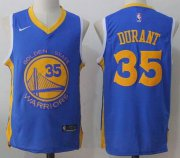 Wholesale Cheap Men's Golden State Warriors #35 Kevin Durant Royal Blue 2017-2018 Nike Swingman Stitched NBA Jersey