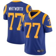Wholesale Cheap Nike Rams #77 Andrew Whitworth Royal Blue Alternate Youth Stitched NFL Vapor Untouchable Limited Jersey