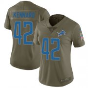 Wholesale Cheap Nike Lions #42 Devon Kennard Olive Women's Stitched NFL Limited 2017 Salute to Service Jersey