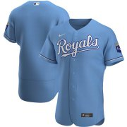 Wholesale Cheap Kansas City Royals Men's Nike Light Blue Alternate 2020 Authentic MLB Jersey