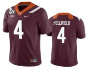 Wholesale Cheap Men's Virginia Tech Hokies #4 Dax Hollifield Maroon 150th College Football Nike Jersey