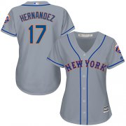 Wholesale Cheap Mets #17 Keith Hernandez Grey Road Women's Stitched MLB Jersey